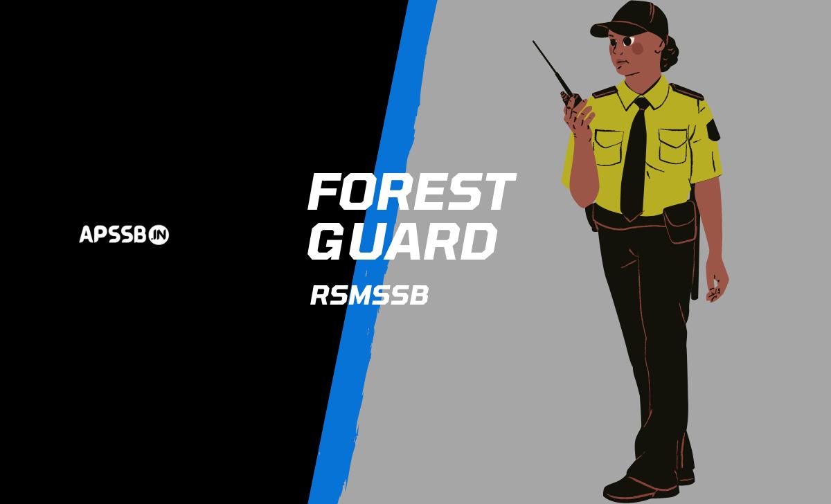 rsmssb forest guard admit card