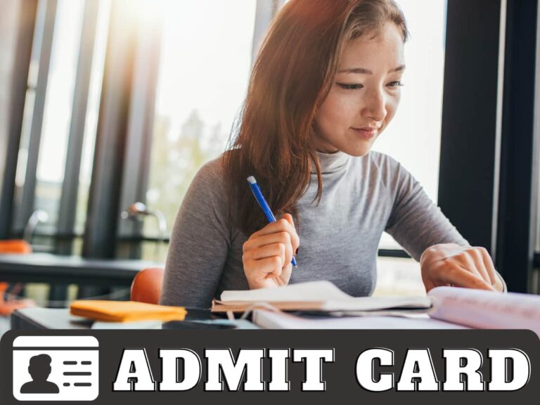 HSSC Cooperative Societies SI Admit Card