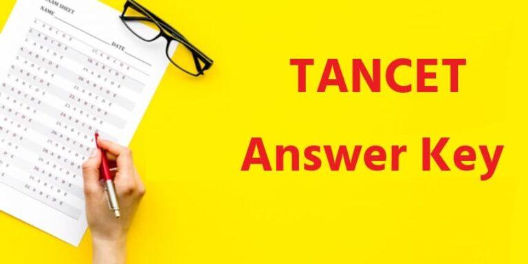 tancet answer key download pdf