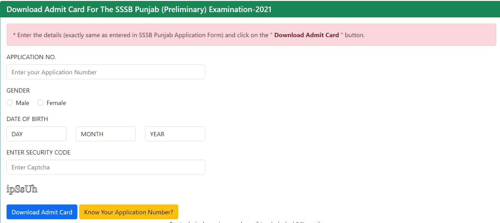 Punjab SSSB Patwari Exam