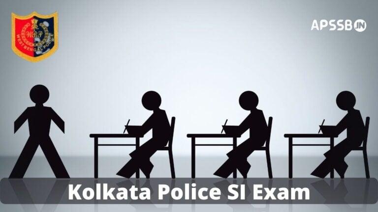Kolkata Police SI Admit Card
