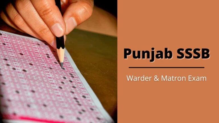 Punjab Warder Result 2021 SSSB Jail Warder & Matron Exam Cut Off Score
