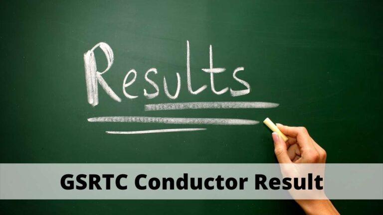GSRTC Result Conductor Cut Off