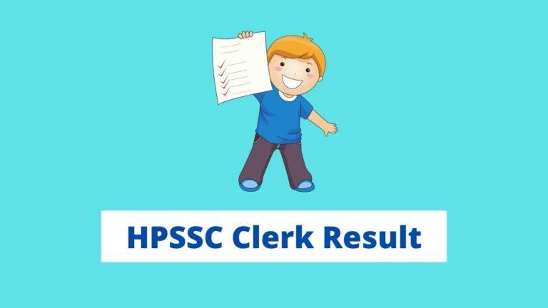 HPSSC Clerk Result