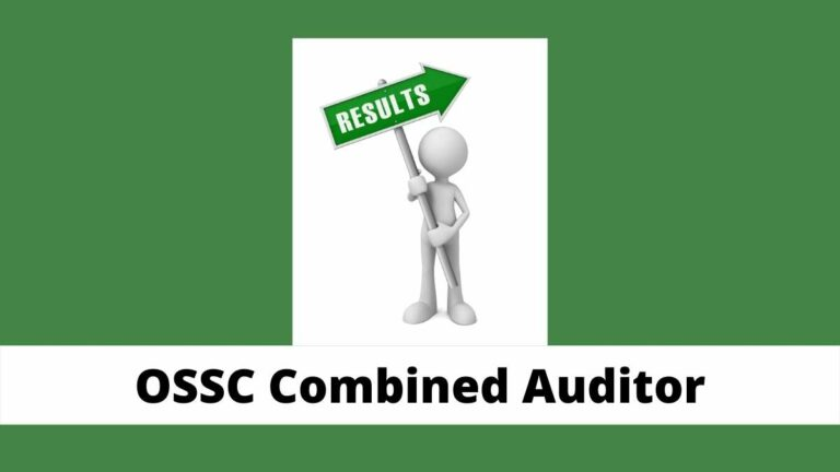 OdishaCombined Auditor Result