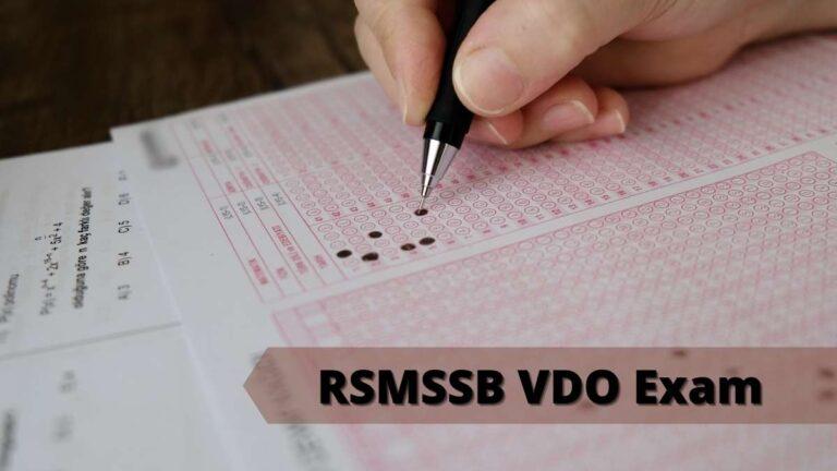RSMSSB VDO Exam Date