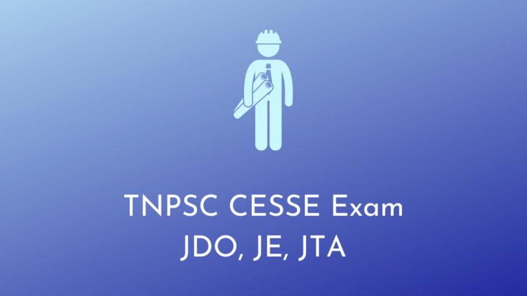 TNPSC CESSE Answer Key 2021 JDO, JE, JTA Exam Question Paper & Solutions