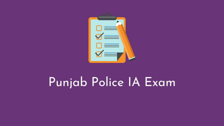 Punjab Police IA Result