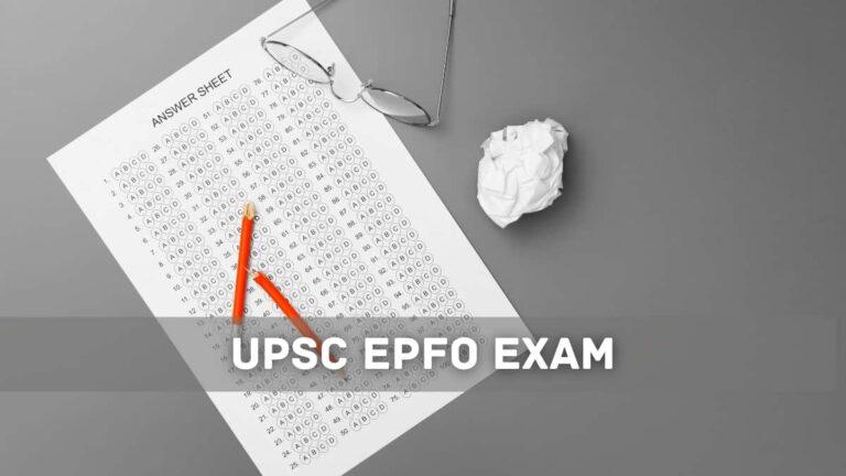 upsc epfo answer key