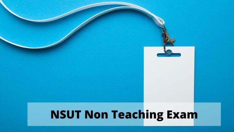 NSUT Non Teaching Admit Card download