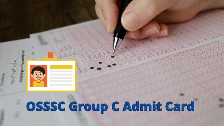 OSSSC Group C Admit Card download